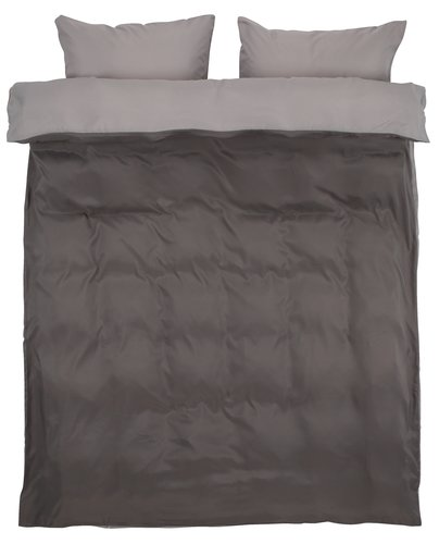 Duvet cover CATERINA Micro DBL grey