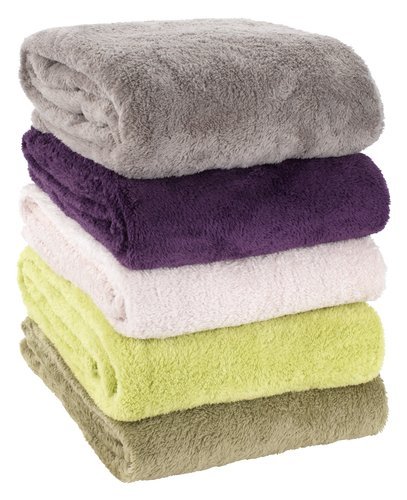 Pătură fleece KROKUS 140x200 gri