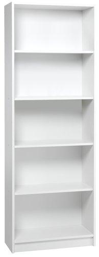 Libreria HORSENS 5 ripiani bianco