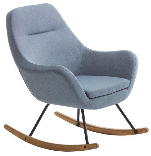 Fotel bujany NEBEL tkanina j-niebieski