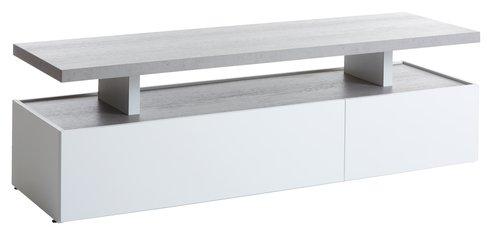 TV bench TOFTLUND white/concrete