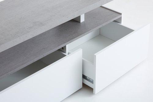 TV stolek TOFTLUND bílá/beton