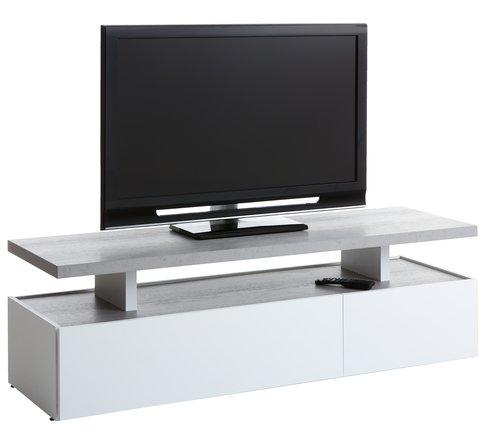 Έπιπλο TV TOFTLUND λευκό/όψη τσιμέντου