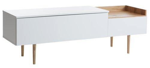 TV-bord AARUP hvid/eg