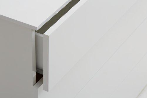 Byrå OLDRUP 4 lådor vit högglans