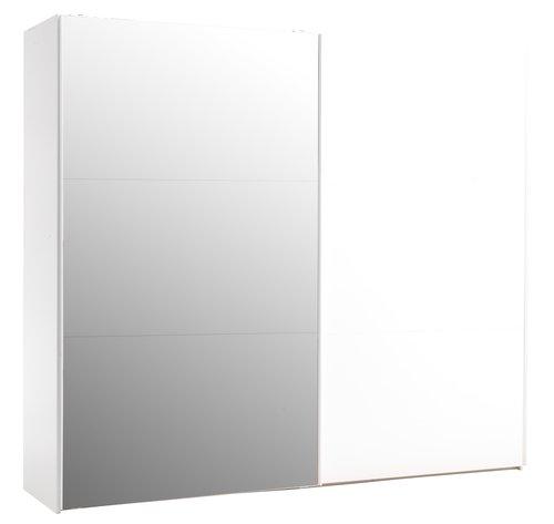 Kleiderschrank TARP 250x221 Spiegel weiß