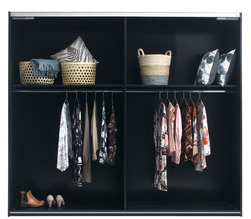 Wardrobe ONSTED 250x221 cm w/m black