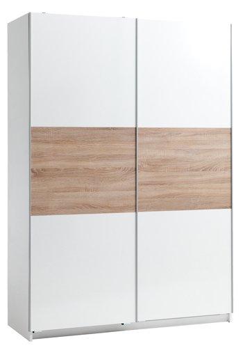 Гардероб SATTRUP 150x218 бял гланц/дъб