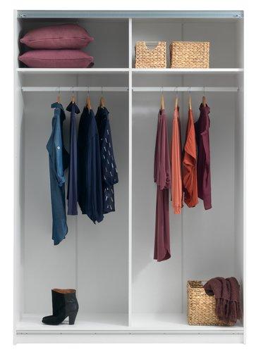 Wardrobe SATTRUP 151x219 highgloss/oak