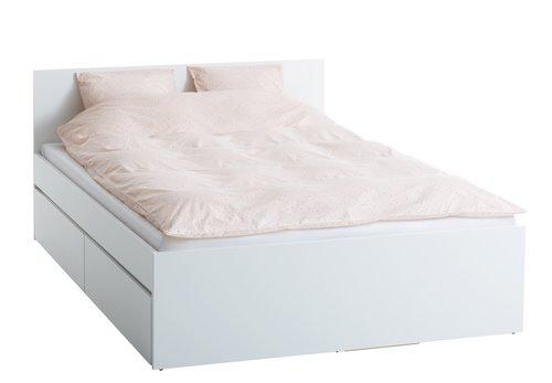 Sengeramme LIMFJORDEN 140x200 hvid