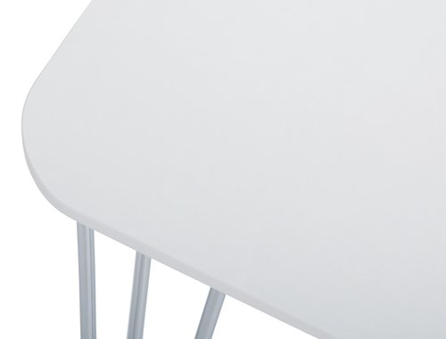 Dining table BANNERUP 76x120white/chrome