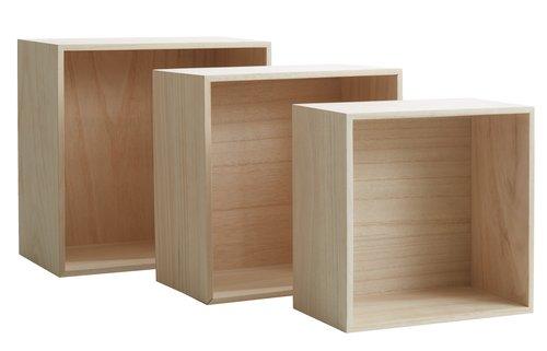 Wall shelves ILBRO 3 pack natural