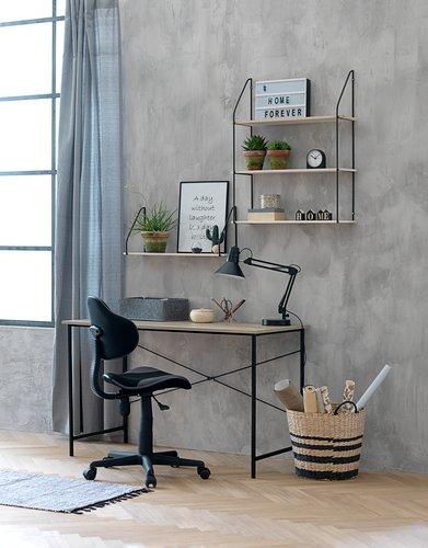 Wall shelf HEJLSMINDE 65x20 high natural JYSK