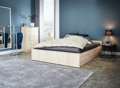 Rama łóżka GENTOFTE 90x200 dąb