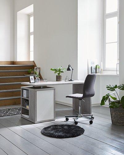 Крісло офісне ABILDHOLT т.сірий/хром