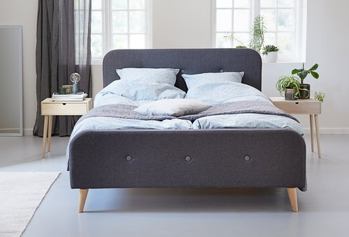 Рамка за легло KONGSBERG 160x200 сива