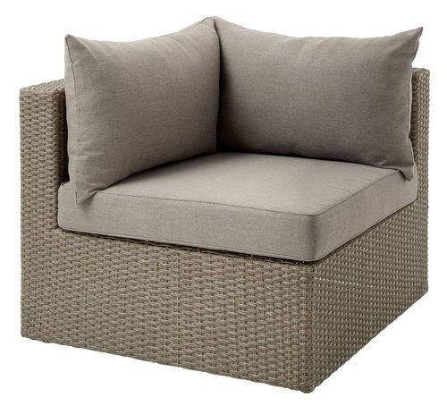 Lounge kutni modul BASTRUP natur