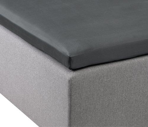 Kuvertlakan satin 120x200x6-10 grå