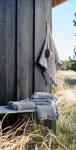 Bath towel IDRE 70x140 grey SENSE