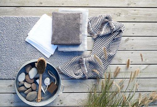 Handdoek LERKIL biologisch d.grijs SENSE
