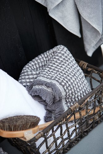 Badehåndklæde LERKIL øko. hvid SENSE