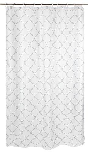 Sprchový záves TABERG 150x200 biela/sivá