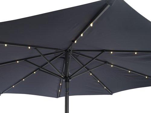 Guarda-sol ASKIM Ø300 LED cinzento