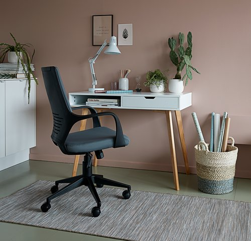 Desk TAMHOLT 50x100 cm white/oak
