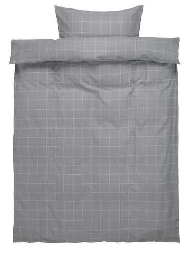 Duvet cover THERESA Flannel SGL grey