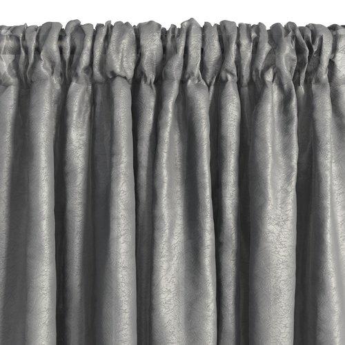 Gardin LOPPA 1x135x300 rynke grå