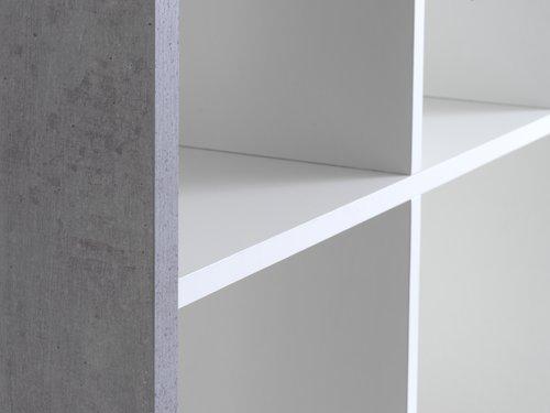 Regal HALDAGER 16 Böden beton/weiß