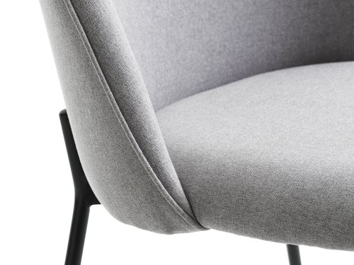 Dining chair DYBVAD light grey/black