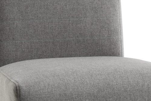 Jedál.stolička TEGLMOSE svetlosivá/biela