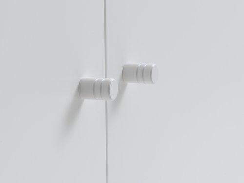 Kaappi BAVNEHUSE 2 ovea valkoinen