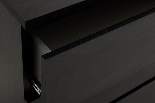 Komoda LIMFJORDEN 4 szuflady czarny