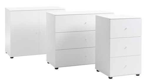 3 drawer chest BAVNEHUSE wide white