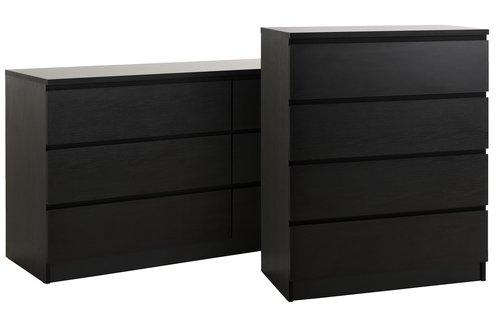 Komoda 3+3 szufl. LIMFJORDEN czarny