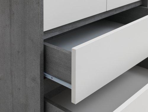 Kleerkast BILLUND 80x192 wit/beton