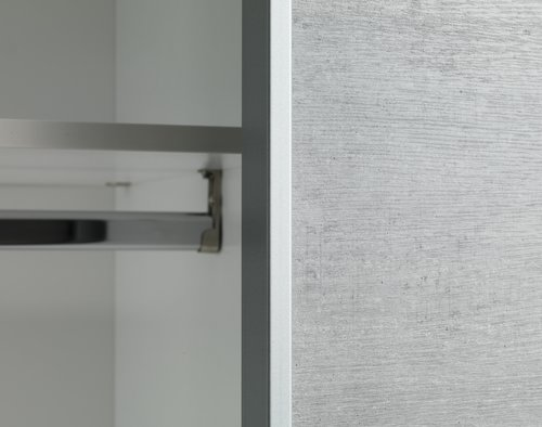 Vaatekaappi TARP 151x201 betoni/valk.