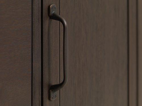 Komoda RAMSING 2 vrata tamnosmeđa