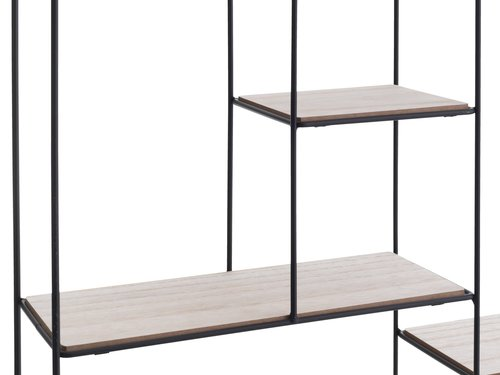 Wall shelf HEJLSMINDE black/natural