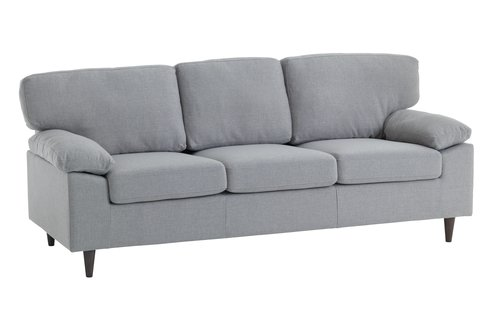Sofa GEDVED 3-pers. lysegrå