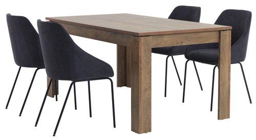 Jedálenský stôl VEDDE 90x160 divoký dub