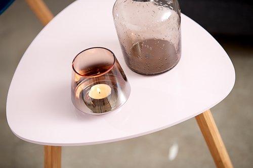 Fyrfadsstage BRYNJE Ø10xH9cm glas