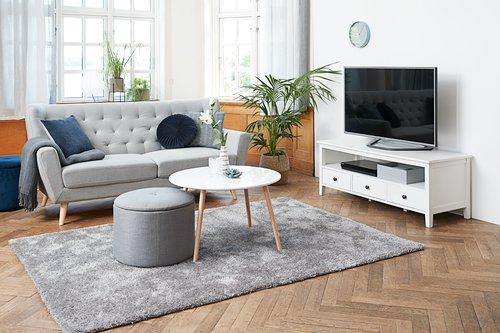 Sofabord GALTEN Ø75 hvit