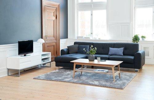 Coffee table KALBY 60x120 cm light oak