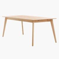 Spisebord KALBY 90x200/290 lys eik