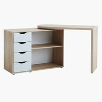 Desk LANGAGER 41-107x107-165 oak/white