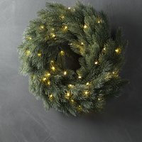Wreath FENRIS D40xH7cm w/LED and timer