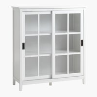 Display cabinet NORDBY 2 door white